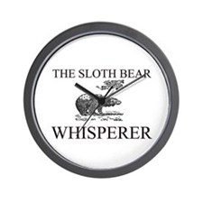 The Sloth Bear Whisperer Wall Clock