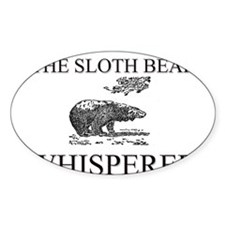 The Sloth Bear Whisperer Oval Decal