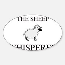 The Sheep Whisperer Oval Decal
