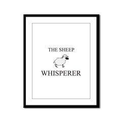 The Sheep Whisperer Framed Panel Print