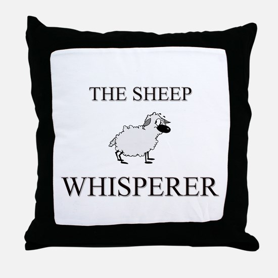 The Sheep Whisperer Throw Pillow