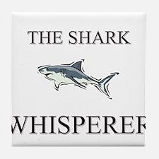The Shark Whisperer Tile Coaster