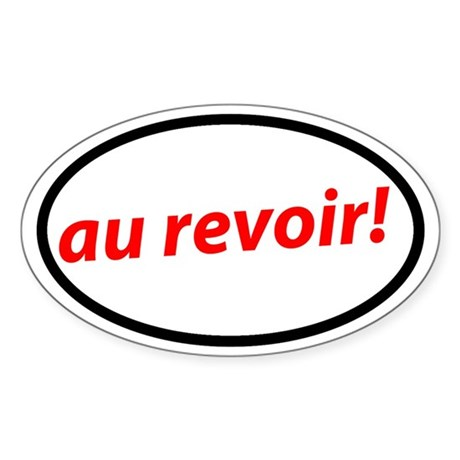 Au revoir! French Sticker