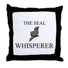 The Seal Whisperer Throw Pillow