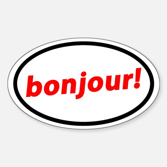 Bonjour! French Decal