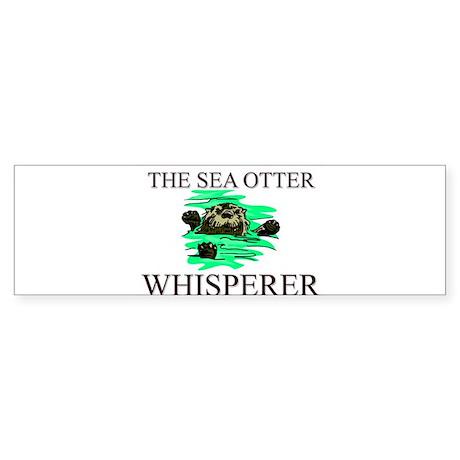 The Sea Otter Whisperer Bumper Sticker