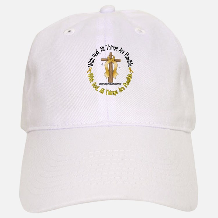 With God Cross CHILD CANCER Baseball Baseball Cap