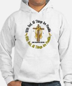 With God Cross CHILD CANCER Hoodie