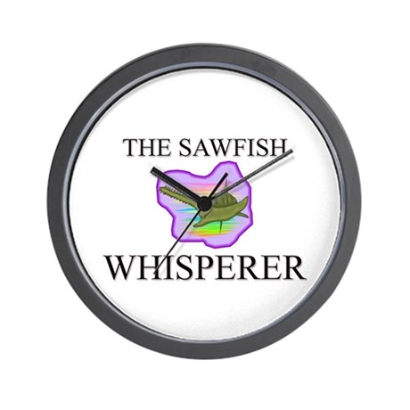 The Sawfish Whisperer Wall Clock