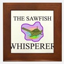 The Sawfish Whisperer Framed Tile