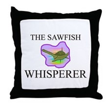 The Sawfish Whisperer Throw Pillow