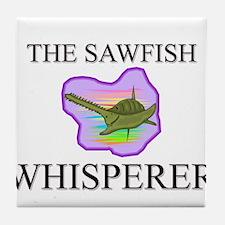 The Sawfish Whisperer Tile Coaster