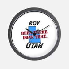 roy utah - been there, done that Wall Clock