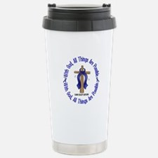 With God Cross COLON CANCER Travel Mug