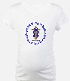 With God Cross COLON CANCER Shirt