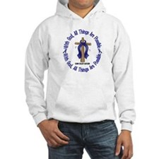 With God Cross COLON CANCER Hoodie