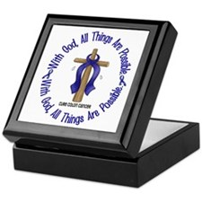 With God Cross COLON CANCER Keepsake Box