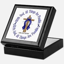 With God Cross COLON CANCER Keepsake Box