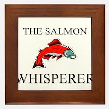 The Salmon Whisperer Framed Tile