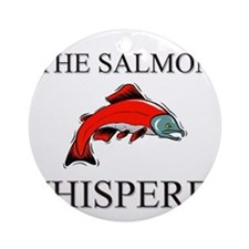 The Salmon Whisperer Ornament (Round)