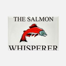 The Salmon Whisperer Rectangle Magnet