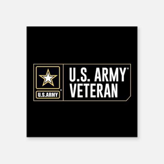 "U.S. Army Veteran Logo Square Sticker 3"" x 3"""
