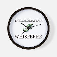 The Salamander Whisperer Wall Clock