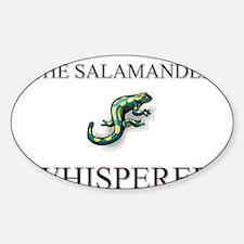 The Salamander Whisperer Oval Decal