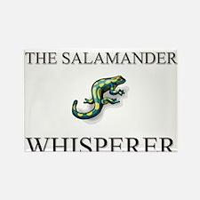 The Salamander Whisperer Rectangle Magnet