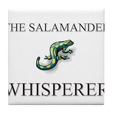 The Salamander Whisperer Tile Coaster