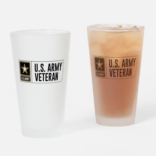 U.S. Army Veteran Logo Drinking Glass