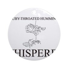 The Ruby-Throated Hummingbird Whisperer Ornament (