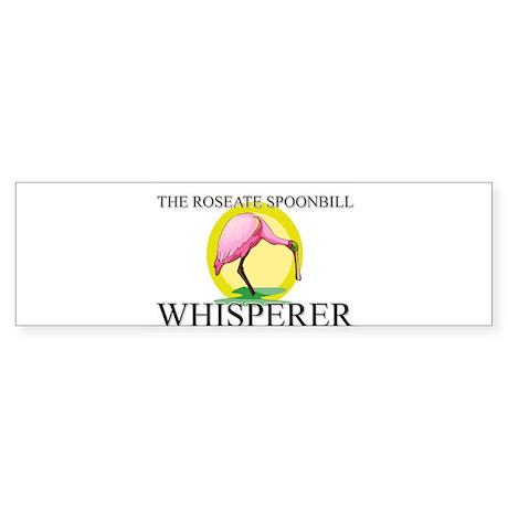 The Roseate Spoonbill Whisperer Bumper Sticker