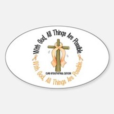 With God Cross ENDOCAN Oval Decal