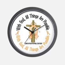 With God Cross ENDOCAN Wall Clock