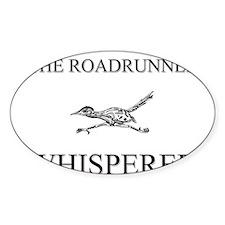 The Roadrunner Whisperer Oval Sticker