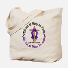 With God Cross Fibromyalgia Tote Bag