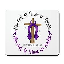With God Cross Fibromyalgia Mousepad