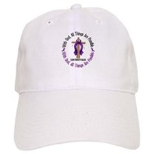 With God Cross Fibromyalgia Baseball Cap