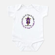 With God Cross Fibromyalgia Infant Bodysuit