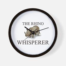 The Rhino Whisperer Wall Clock