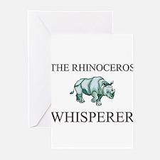 The Rhinoceros Whisperer Greeting Cards (Pk of 10)