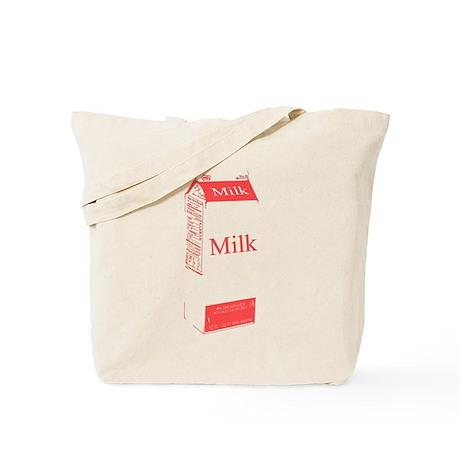 Vintage Milk Carton Tote Bag