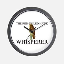 The Red-Tailed Hawk Whisperer Wall Clock