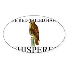 The Red-Tailed Hawk Whisperer Oval Decal
