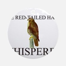 The Red-Tailed Hawk Whisperer Ornament (Round)
