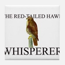 The Red-Tailed Hawk Whisperer Tile Coaster