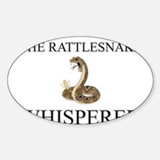 The Rattlesnake Whisperer Oval Decal