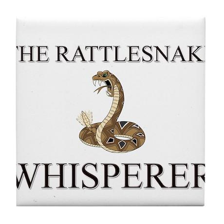 The Rattlesnake Whisperer Tile Coaster