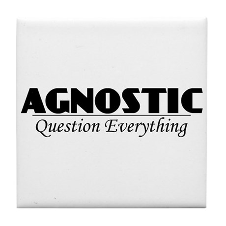 Agnostic Question Everything Tile Coaster
